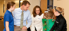 Mazzuchelli Catholic Middle School - Visiting with Students