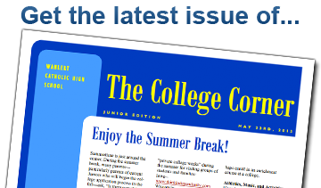 Get the latest issue of the College Corner