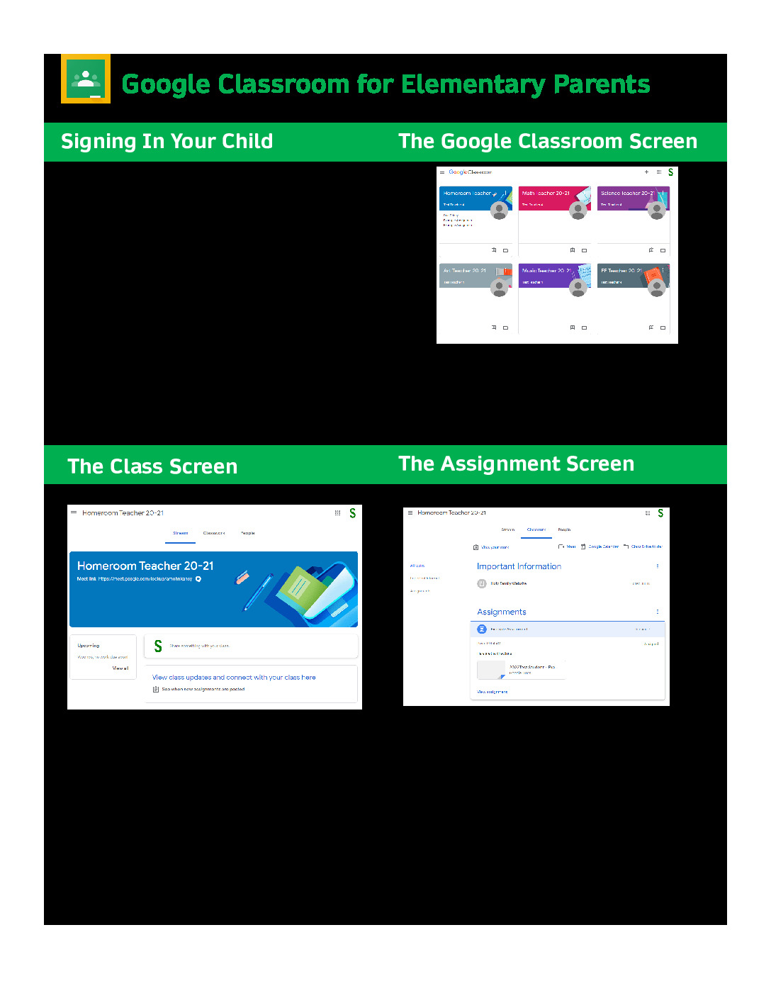thumbnail of Parent Guide Elementary Google Classroom & Meet