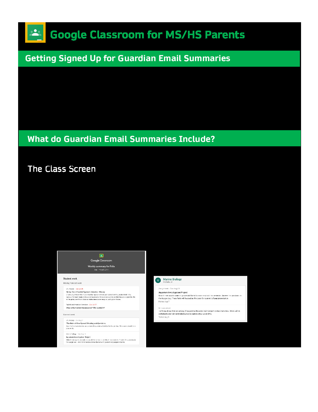 thumbnail of Parent Guide MS-HS Google Classroom & Meet