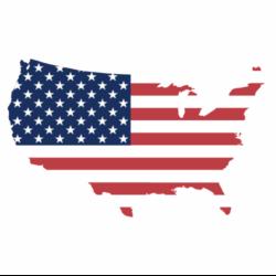American Flag Outline, Service Academies Logo